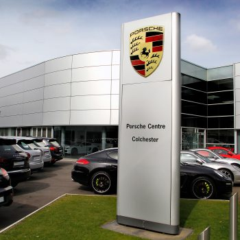 porsche centre colchester front and sign